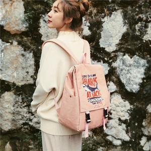 Image 5 - Street photo Japanese schoolbag female student Korean fashion couple shoulder bag male junior high school campus Backpack