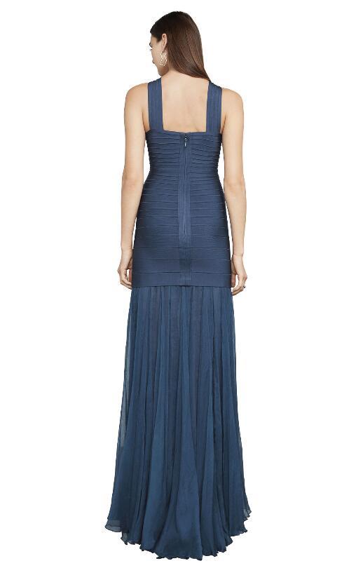 2017 Vendaje Del Superior Elegante Calidad Diseñador Sexy Malla Las Halter Mujeres Largo Vestido De Avnwqq4R