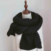 Charming Women S Scarf Winter Wool Knitted Candy Colors Scarves Soft Comfortable Thick Warm Handmade Scarves