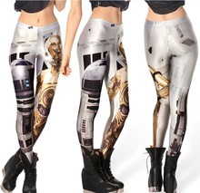 2017 Hot New Euramerica black milk space robot digital printing star Leggings Gaiters Boothose Leggings Legin Leguin Leginy