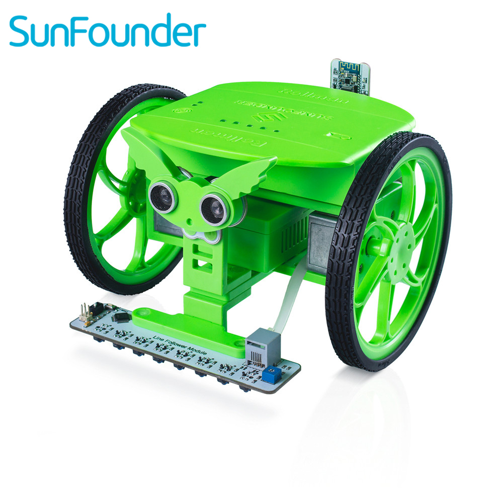 SunFounder Rollman STEM Learning Educational DIY Robot Kit Bluetooth APP Control High Tech Robot Toy