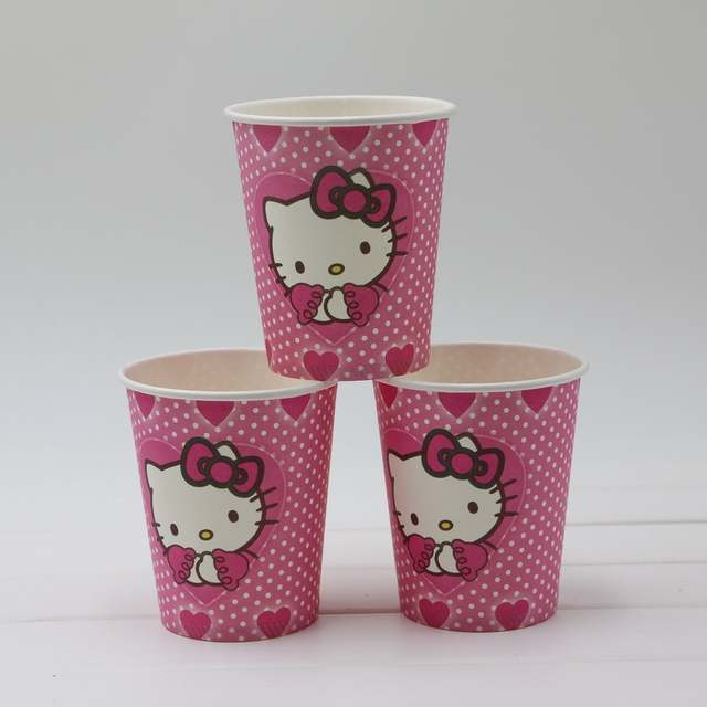 a3fa2e00c 60pcs\lot Baby Shower Tissues Kids Favors Paper Plates Cups Hello Kitty  Dishes Glass Birthday Party Decoration Napkins Supplies-in Disposable Party  ...