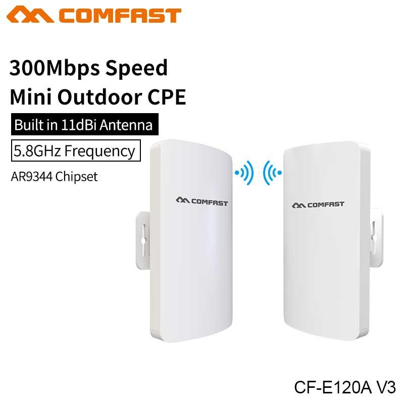 Comfast 2.4G/5G 300 Mbps mini extérieur sans fil CPE WIFI répéteur réseau pont pour WIFI signal récepteur envoyer CPE