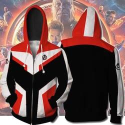 Мстители Endgame косплэй Quantum Realm костюмы толстовка куртка с капюшоном Марвел Капитан Tech супергероя Америка молния