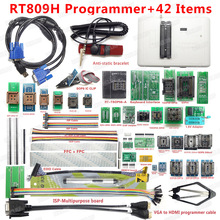 Original RT809H EMMC Nand FLASH Extremely fast universal Programmer +44 items WITH CABELS EMMC Nand Top Quality