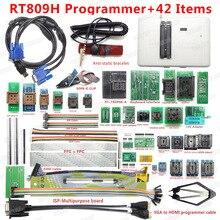 Orijinal RT809H emmc nand FLASH son derece hızlı evrensel programcı + 44 öğeleri kabloları emmc nand en kaliteli