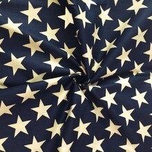 1 meter 100% Baumwolle marineblau big star fashion classic chic kleidung Stoff Zum nähen Kissen Bettwäsche Textile Quilten tuch