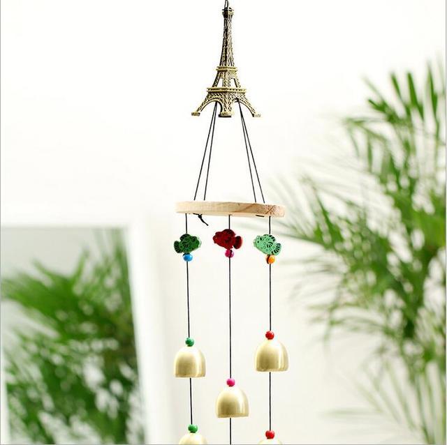 Metal Bells Eiffel Tower Wind Chimes Ornaments Deep Resonant 4 Tube  Windchime Chapel Church Bells Wind