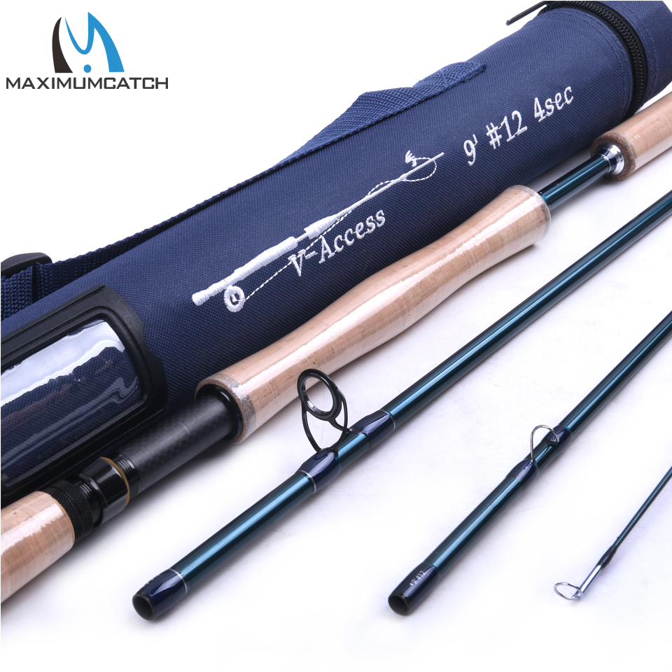 Maximumcatch Fly Fishing Rod SK Carbon Fiber 9FT 12WT 4PCS Full-well Fast Action With Cordura Tube Carbon Fly Rod купить