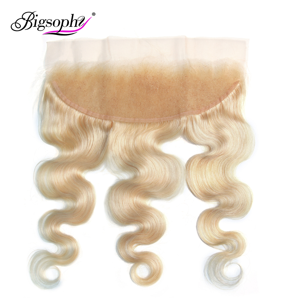Bigsophy Malaysian Hair 13x4 Lace Frontal 613 Color Blonde Remy Human Body Wave Swiss Lace13*4 Closure