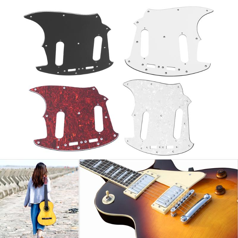 1Pc 3ply Full Face Guitar Scratch Plate Pickguard for Fender Mustang Guitar High Quality Guitar Scratch Musical Instrument Part