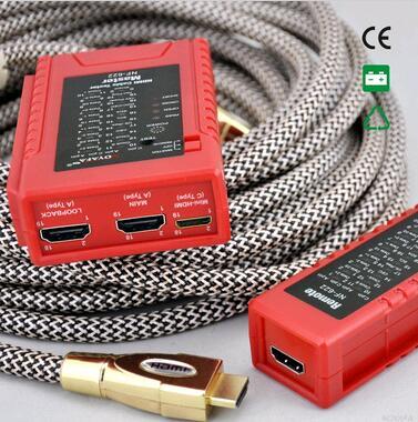 Livraison gratuite!! Testeur de câble HDMI NOYAFA NF-622 avec connecteur HDMI commun et MINI HDMI