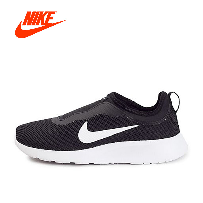 Original New Arrival Official WMNS NIKE TANJUN SLIP Women's Breathable Running Shoes Sports Sneakers s 2xl 2 colors 2015 new winter women down coat long slim turn down collar zipper jacket female belt pocket outwear zs308