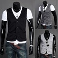 2015 Spring Fashion New Basic Casual Men Suit Vest  Brand Quality Casual Solid Waistcoat Free Drop Shipping  3 Color