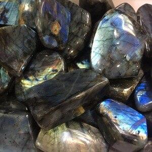 Image 4 - Pierre naturelle de guérison, Quartz poli en Labradorite, pierre naturelle, pour la maison