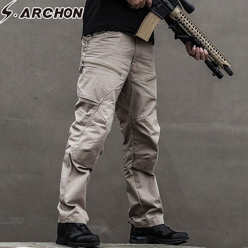 S. ARCHON tactique armée militaire pantalon homme US soldat SWAT Force spéciale Combat pantalon hommes imperméable Multi poches Cargo pantalon