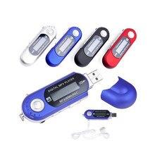 Mini tocador de mp3 digital portátil, flash, usb, 32gb, cartão tf, tocador de música, rádio fm