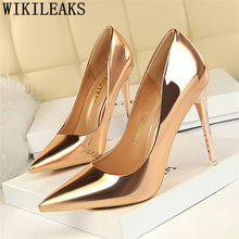 sexy banquet Patent Leather Women Pumps Fashion Office Shoes Women Sexy High Heels Shoes Women's Wedding Shoes Woman Party heels
