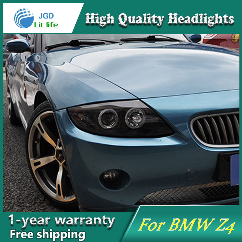 high quality Car Styling Head Lamp case for BMW Z4 2003-2008 LED Headlight DRL Daytime Running Light Bi-Xenon HID Accessories high quality h3 led 20w led projector high power white car auto drl daytime running lights headlight fog lamp bulb dc12v