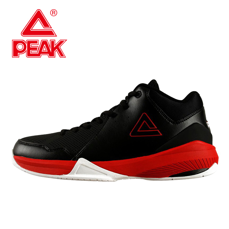PEAK SPORT Men Basketball Shoes High-Top Durable Rubber Outsole Ankle Boots Breathable Athletic Training Sneakers Size EUR 40-47 peak sport monster ii men basketball shoes foothold tech sneakers breathable training athletic durable rubber outsole boots