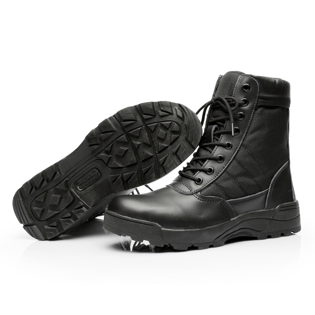 ФОТО 2017 Winter/autumn High Quality Brand Men Military Boots Special Forces Tactical Desert Combat Boats Outdoor Shoes Snow Boots