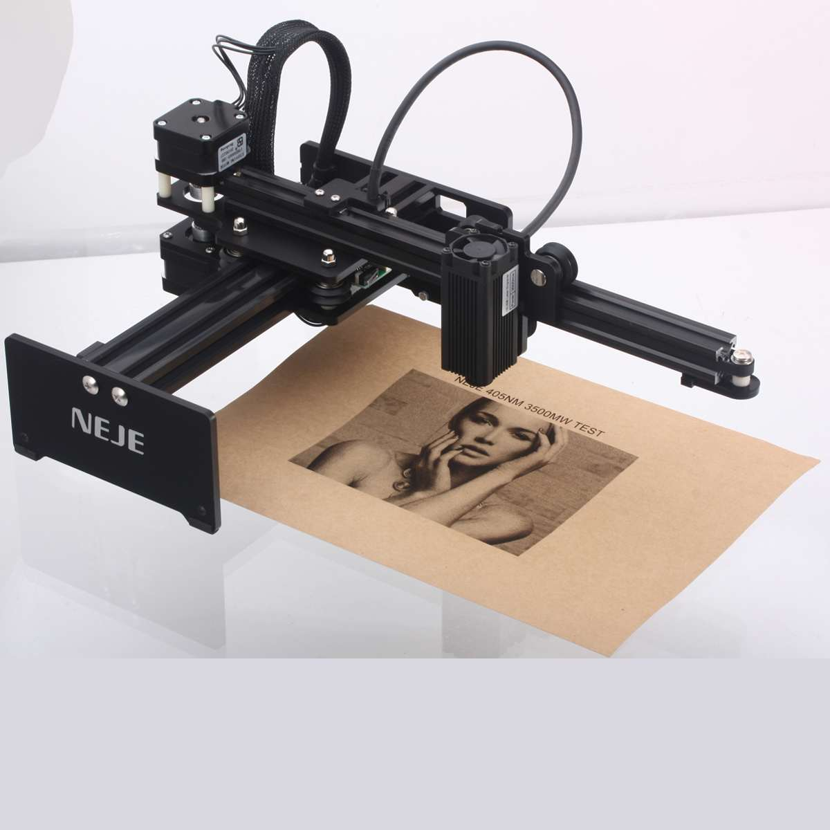 405nm 3500mw High Speed Laser Engraving Machine DIY CNC Laser Engraver Printer Automatic Handicraft Wood Burning Tools