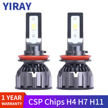 YIRAY 2PCS CSP H4 H7 LED H11 H1 H3 9005 9006 9012 HB3 HB4 Car Headlight Bulbs 72W 9600lm Auto LED CANBUS Lamp Headlamp Fog Light cooleeon auto headlamp led light h1 h4 h7 car headlight bulbs h11 9005 9006 automotive led lamp kit 12v 24v 80w 9600lm cree leds