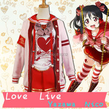 LoveLive! Love Live Yazawa Nico Valentine's day Sweater Coat Outwear Tops Skirt Uniform Outfit Cosplay Costumes