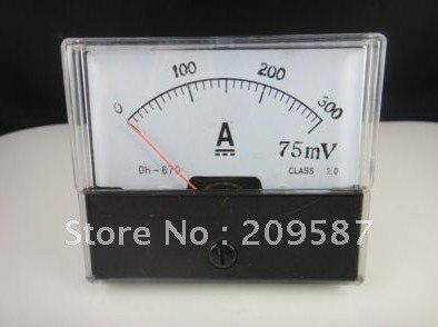 Аналоговая AMP Панель метр амперметр тока DC 0-300A
