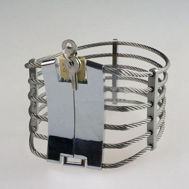 Fetish bdsm bondage restraints steel slave collar unisex erotic sex toys metal neck collar for woman men sex adult lock collars