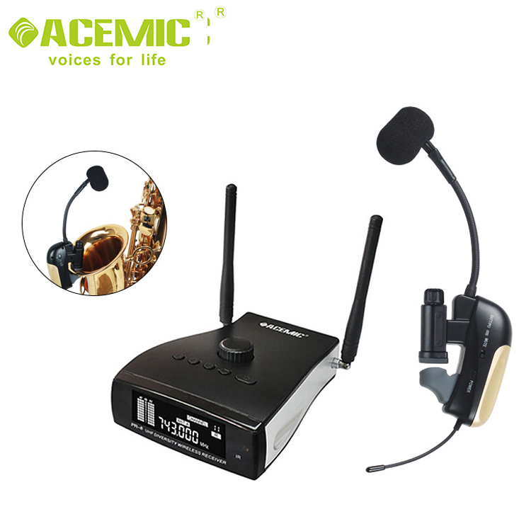 ACEMIC PR-8/ST-1 Saxophone Wireless Microphone System Musical Instrument Condenser Microphone For Saxophone Trumpet