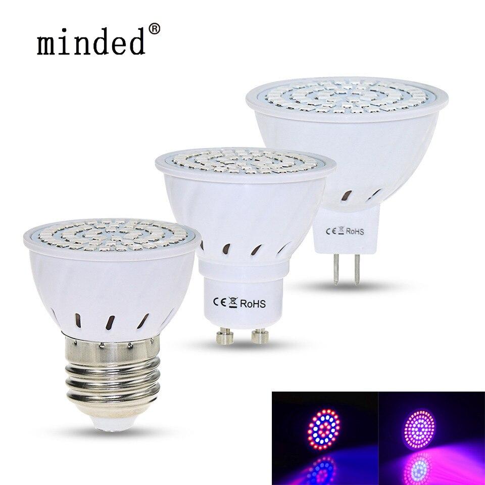 Full Spectrum Led Grow Light Bulb E27 GU10 MR16 220V Growing Lights Phyto Lamp For Plants Hydroponics System Grow Lamp
