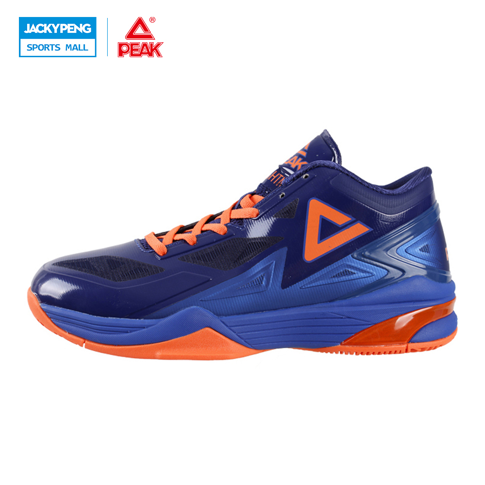 PEAK SPORT Lightning II Men Authent Basketball Shoes Competitions Athletic Boots FOOTHOLD Cushion-3 Tech Sneakers EUR 40-50 peak sport star series george hill gh3 men basketball shoes athletic cushion 3 non marking tech sneakers eur 40 50