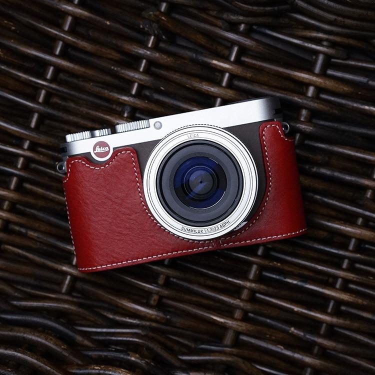 Mr.Stone Handmade Genuine Leather Camera case Video Half Bag Camera Bodysuit For Leica X Vario X typ113 XV Camera