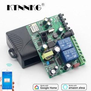 Image 1 - KTNNKG Módulo de automatización del hogar, interruptor Wifi de 433 MHz, 10A, 2 canales, receptor inalámbrico y controles remoto RF Ev5127 433 MHz