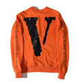 OFF WHITE VLONG Hoodies Men Jumper Streetwear Skateboard Fashion Sweatshirt Solid Fleece Pullovers Homme Hip hop Tracksuit S-XL