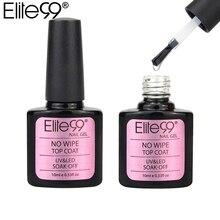 Elite99 верхнее покрытие гель 10 мл не впитывается не протирается верхнее покрытие УФ светодиодный Гель-лак для ногтей длинный прочный верх Гель-лак для дизайна ногтей