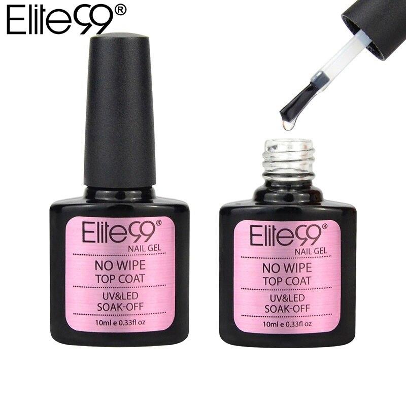 Elite99 верхнее покрытие гель 10 мл отмачиваемый без протирания верхнее покрытие УФ светодиодный Гель лак для ногтей длинный прочный верх Гель лак для дизайна ногтей|Гель для ногтей|   | АлиЭкспресс
