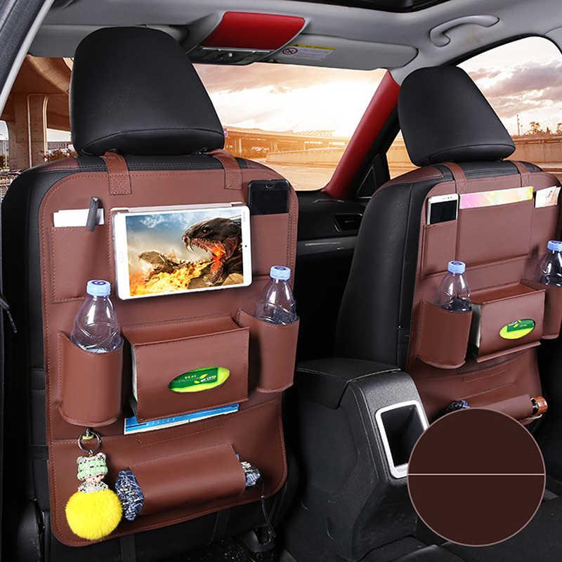 New Car seat back storage Stowing Tidying Pocket Auto Styling Organizer bag Universal PU Leather Multifunction storage box