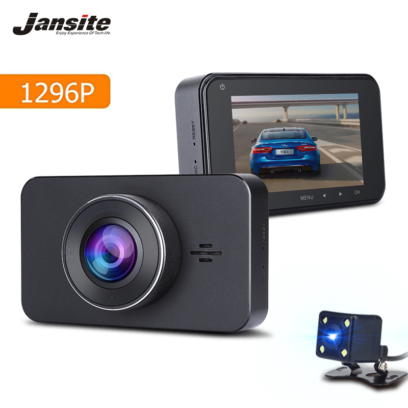 Jansite FHD 1296P Car DVR Camera 3 IPS Dash cam ADAS/LDWS Video Recorder SONY 323 Super Night Vision Registrar Parking Monitor