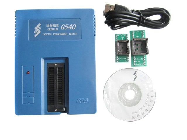 Genius USB Bios Programmer G540 Universal FLASH GAL AVR PIC EPROM Programmer device with IC socket adapter  shipping by dhl 60 pcs genius g540 eprom mcu gal pic usb universal programmer