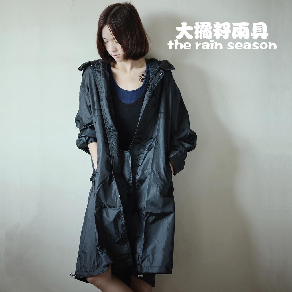 Fashion Waterproof Breathable Raincoat Thin Black Women s Men s Rain Poncho  Trench Coat Outdoors Travel Chubasquero Plus Size ec0ae8bae