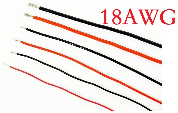 10 Meters Top Quality Silicone wire 18AWG 18# AWG DIY Battery Wire ...