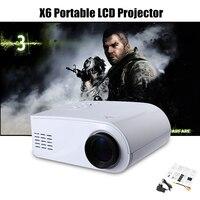 VIVIBRIGHT x6 мини Портативный мультимедиа ЖК-дисплей проектор HD 480x320 Пиксели видео дома Театр proyector с AV, USB, VGA, HDMI Порты и разъёмы