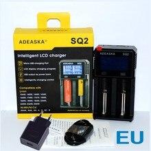 100% Nova SQ2 ADEASKA Digital Display LCD Carregador de Bateria carregador carregador Carregador 18650 26650 18350 10440 18500 teste de capacidade