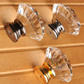 50mm 2 inch Adults BIG A Modern Porcelain Crystal Diamond Chrome Door Handle