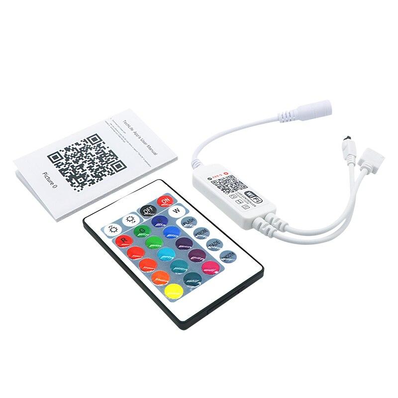 SZYOUMY Inteligente Iluminação LED Light Strip Controlador WiFi IR Bluetooth teclas do Controle Remoto IR RGB DC4.5V 25V 24 Alexa Inicial do Google - 2