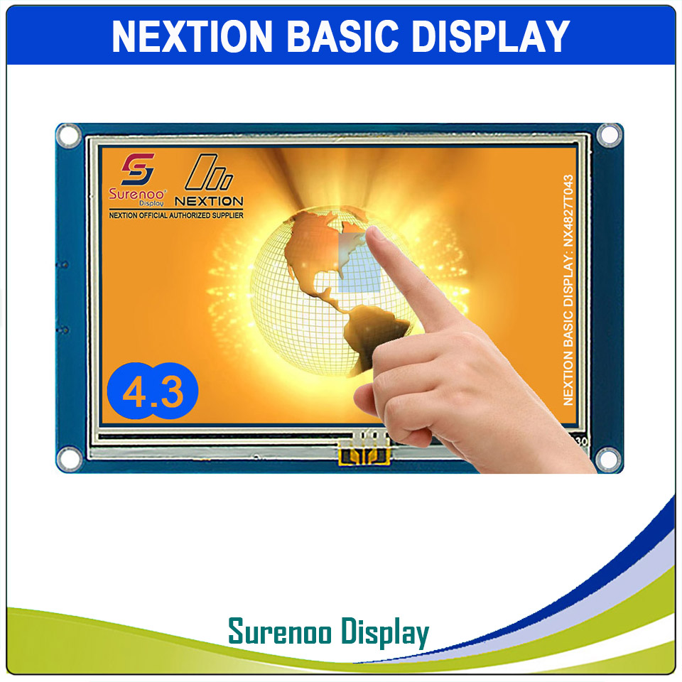 "4.3"" NX4827T043 Nextion Basic HMI Smart USART UART Serial Resistive Touch TFT LCD Module Display Panel for Arduino RaspBerry Pi-in LCD Modules from Electronic Components & Supplies"