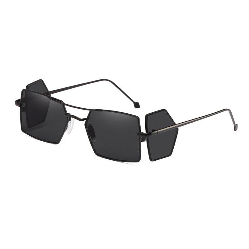Neue Unisex 4-objektiv Polygon Sonnenbrille Frauen Männer Winddicht Brille Vintage Unregelmäßigen Schild Brillen Oculos Doppel Strahl Gafas L3 Neueste Technik