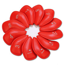 Buy Golf Club Iron Headcover PU Leather 12 Pcs/Pack Golf Club Head Covers Durable Red Black Colors In Stock Free Shipping directly from merchant!